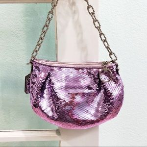 Coach Poppy Collection Purple Sequin Purse